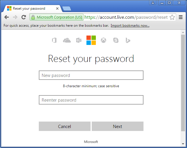 set-new-microsoft-password