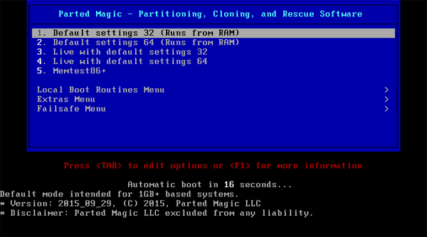 parted-magic-boot-options