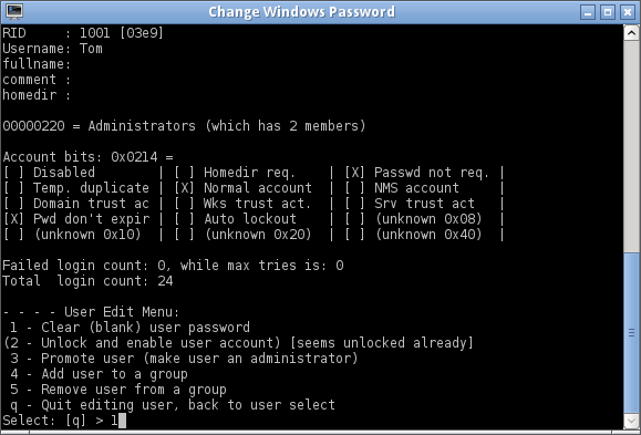 windows 7 password reset tool usb free